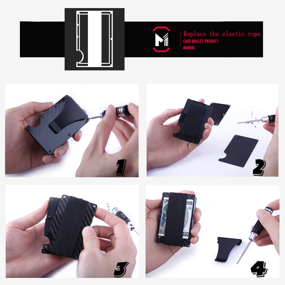 Carbon fiber rfid mini slim wallet metal aluminum business credit carbon fiber rfid mini slim wallet metal aluminum business credit card id holder with anti theft case protector alizbay canada reheart Image collections