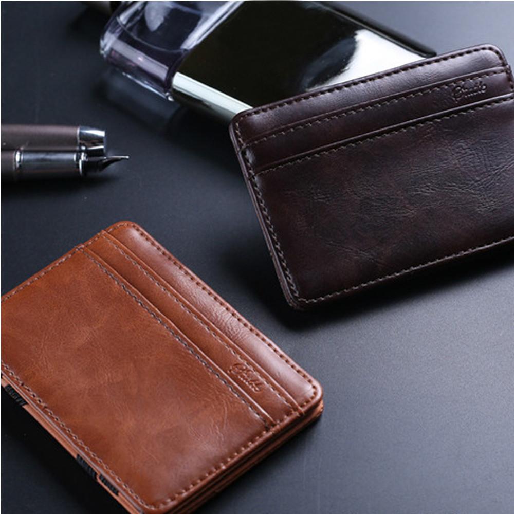 Credit Card Wallet Women Holder Slim Newbrown PU Leather RFID Business Purse ID